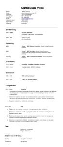 CV Voorveeld   Verzorgende IG | Solliciteer.net
