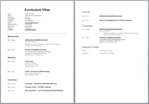 CV Voorbeeld / Curriculum Vitae   5 Gratis CV templates downloaden