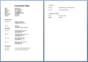 CV voorbeeld kok