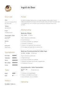 Horeca CV bediening