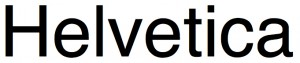 helvetica lettertype