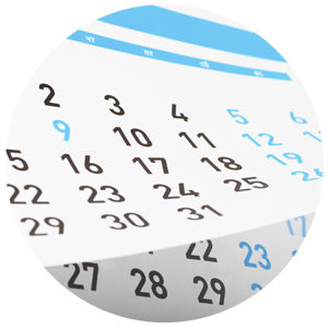 kalender met data