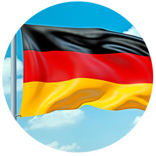 Duitsle vlag in de wind
