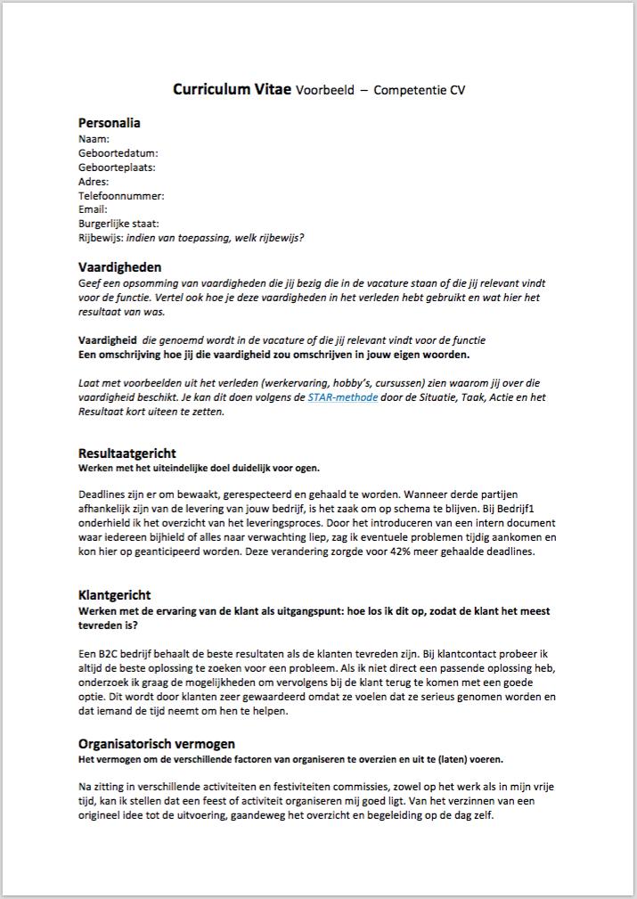 Het Vaardigheden CV, maak je zo | Solliciteer.net