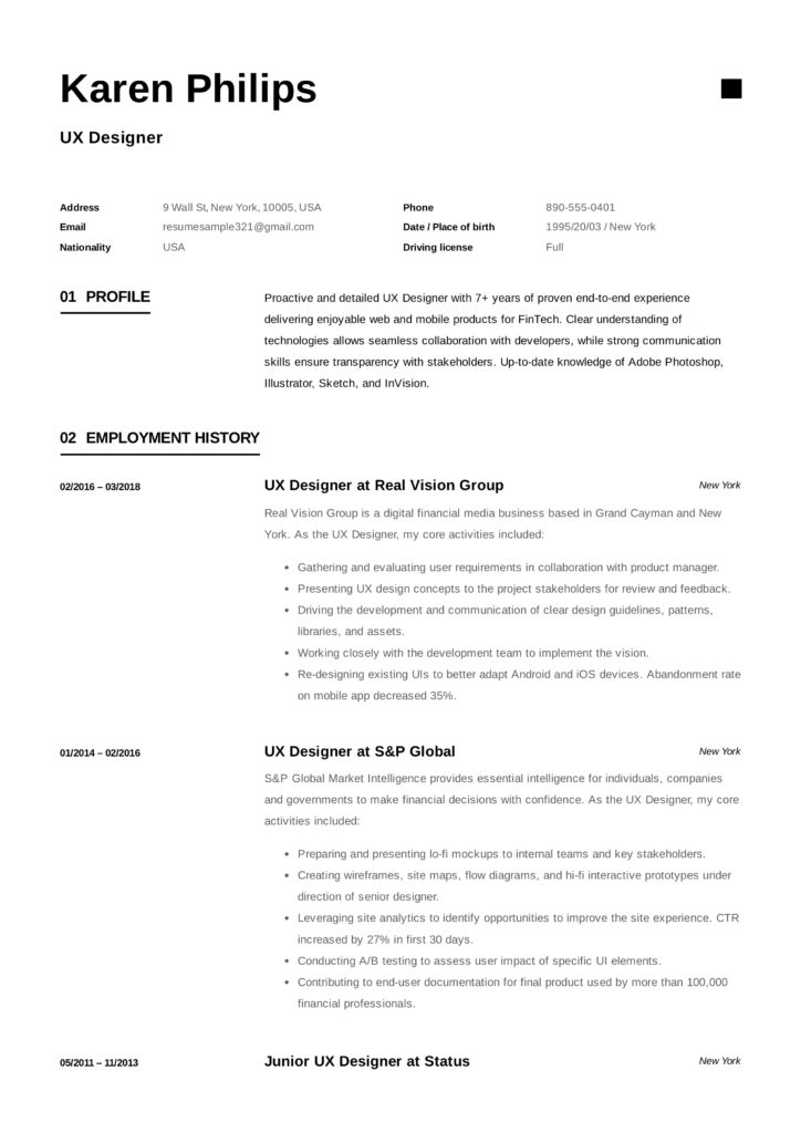voorbeeld cv engels word Engels CV maken (+ 12 CV Voorbeelden) | Gratis | PDF | Solliciteer.net