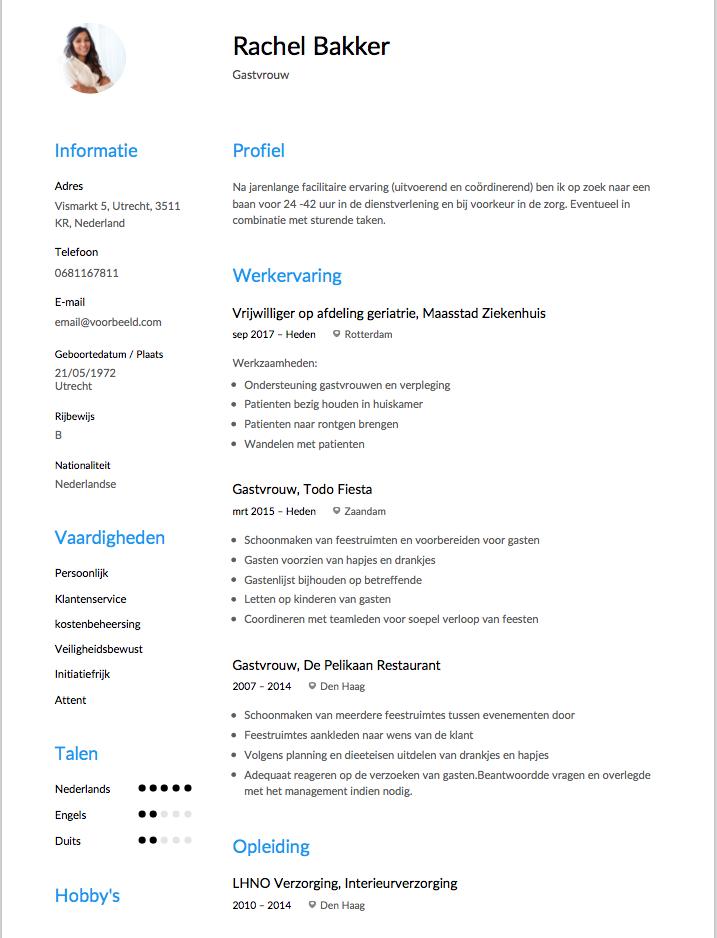 CV Gastrouw Origineel