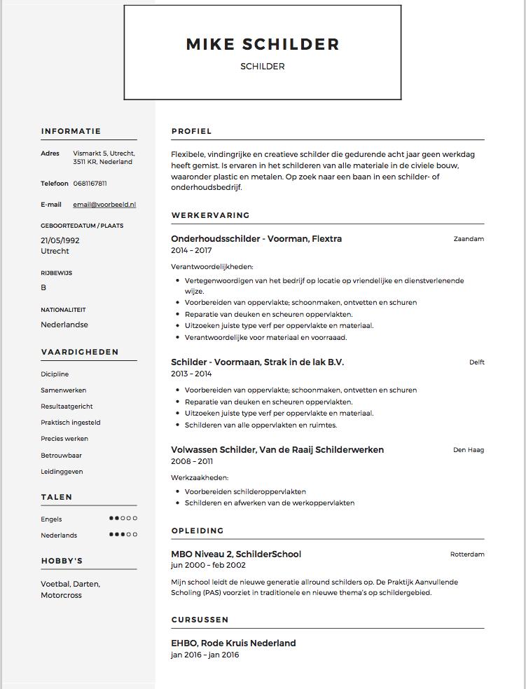 CV Schilder