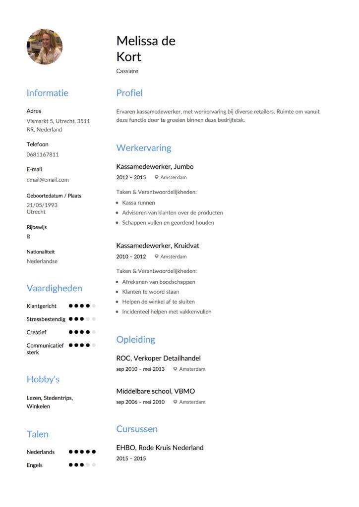 Template CV Kassiere