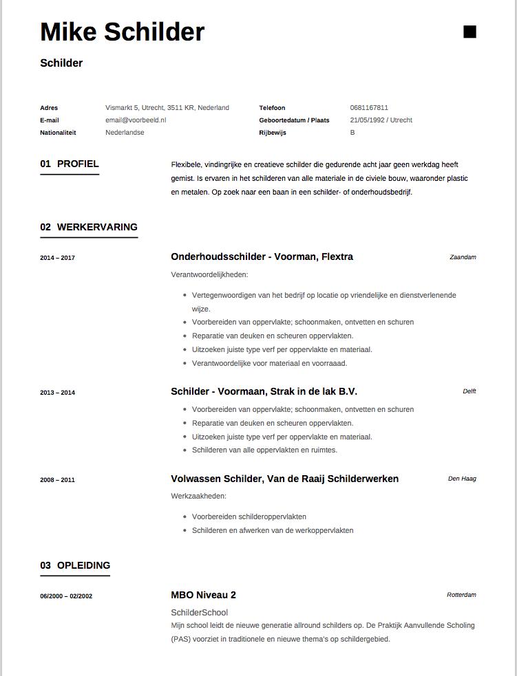 cv opleiding Cv Opleiding | hetmakershuis