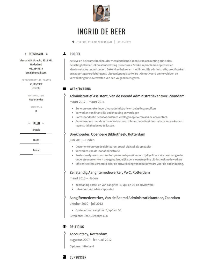 sollicitatiebrief boekhouder CV Voorbeeld Boekhouder | Solliciteer.net sollicitatiebrief boekhouder