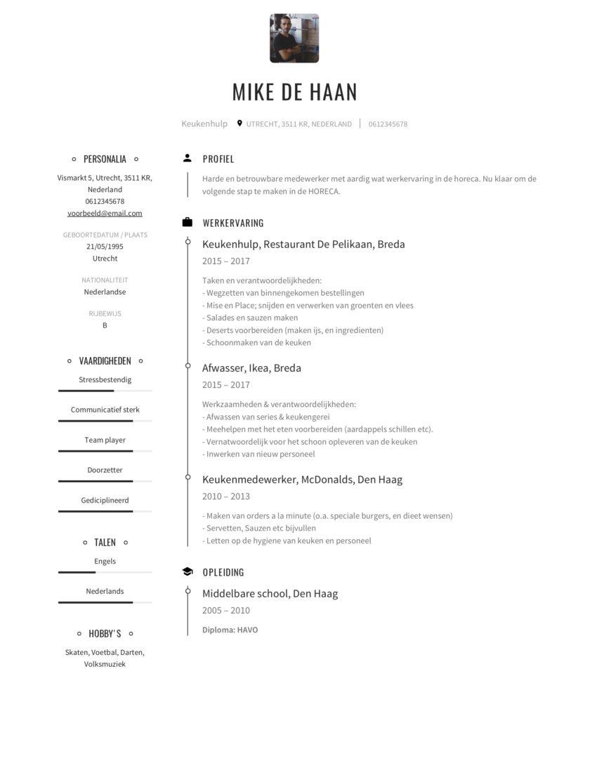 Keukenhulp CV