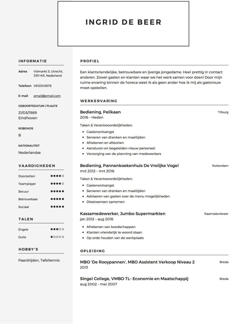 cv voorbeeld zorg CV Voorbeeld   Verpleegkundige | Solliciteer.net