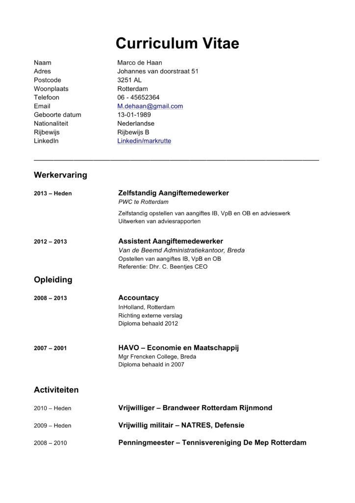 hoe een cv schrijven Gratis CV Maken Handleiding & CV Voorbeelden| Word & PDF | 2019 |