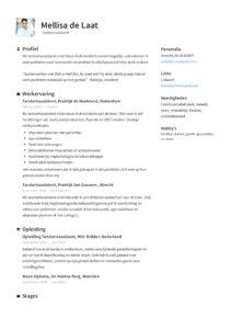 Tandartsassistente CV Voorbeeld