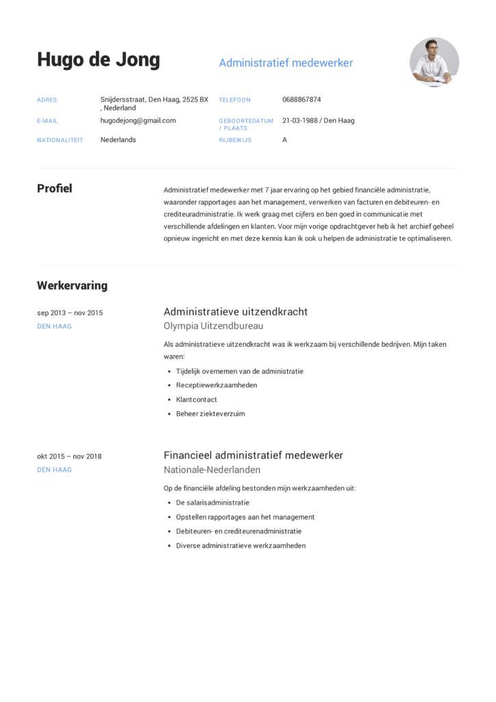 Voorbeeld CV Administratief medewerker (10)