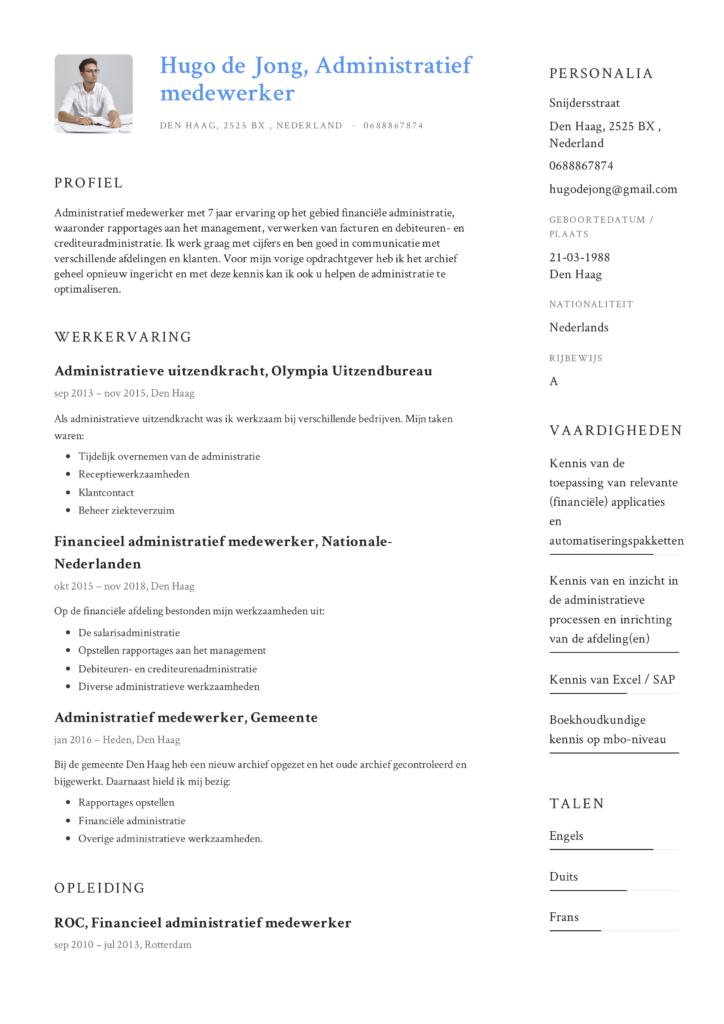 Voorbeeld CV Administratief medewerker (6)