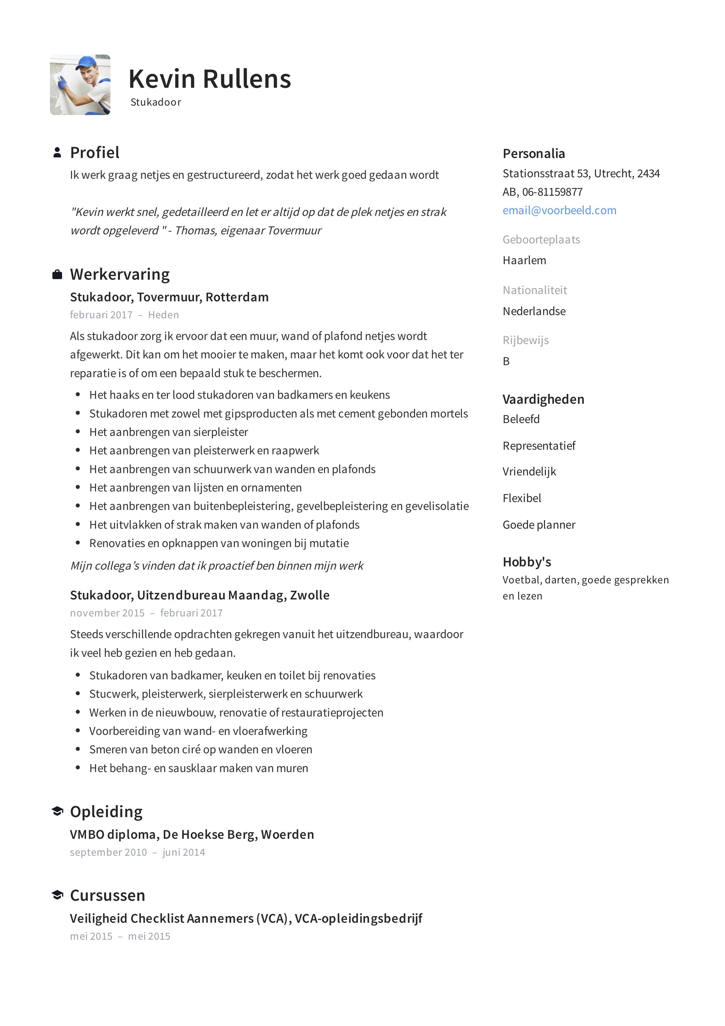 CV Stukadoor