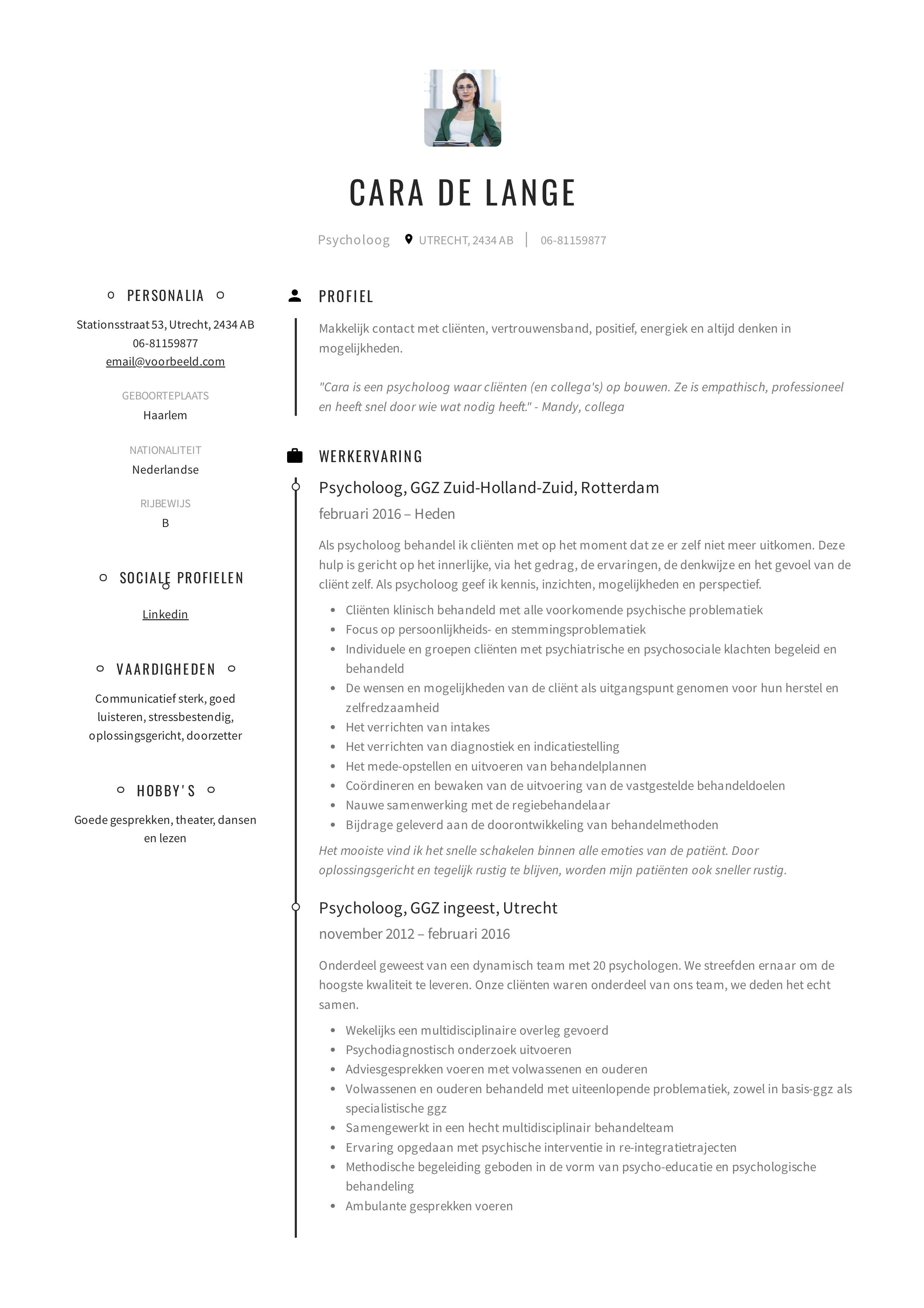 Cara_de_Lange_-_CV_-_Psycholoog (1)