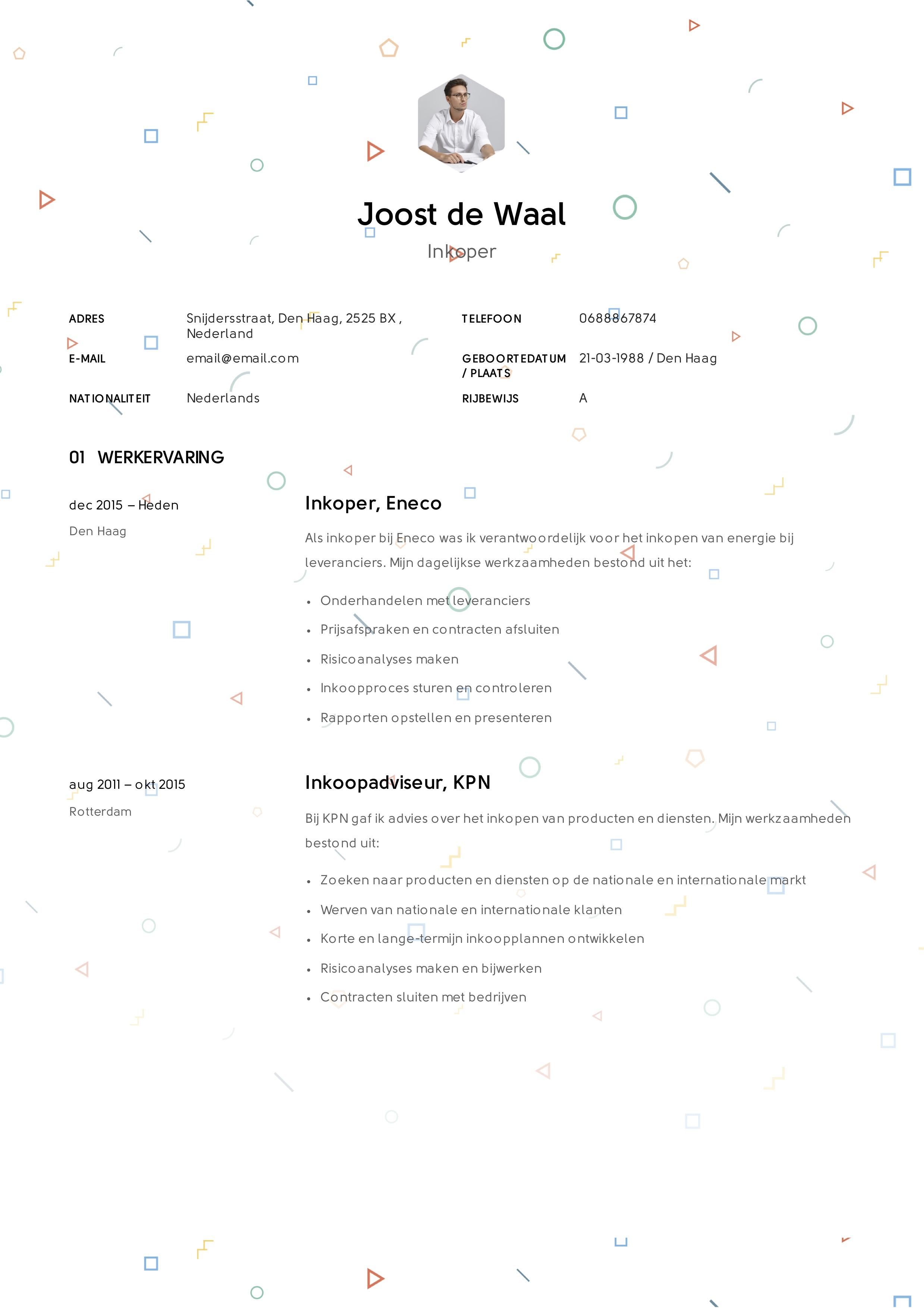 CV inkoper
