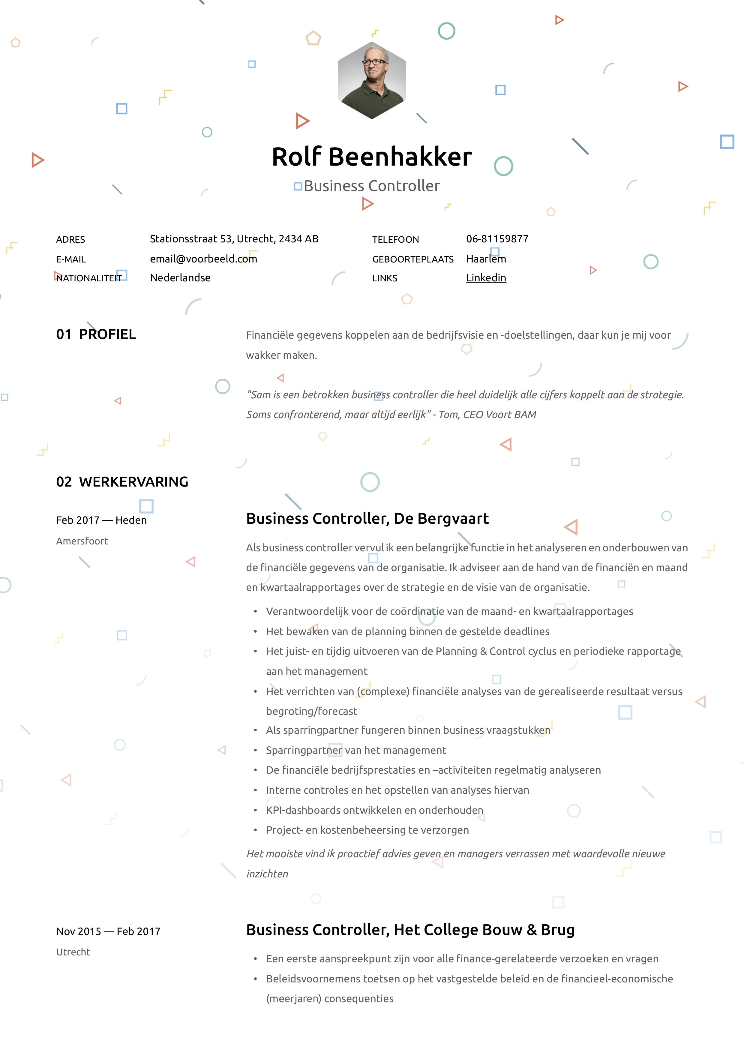 CV Business controller