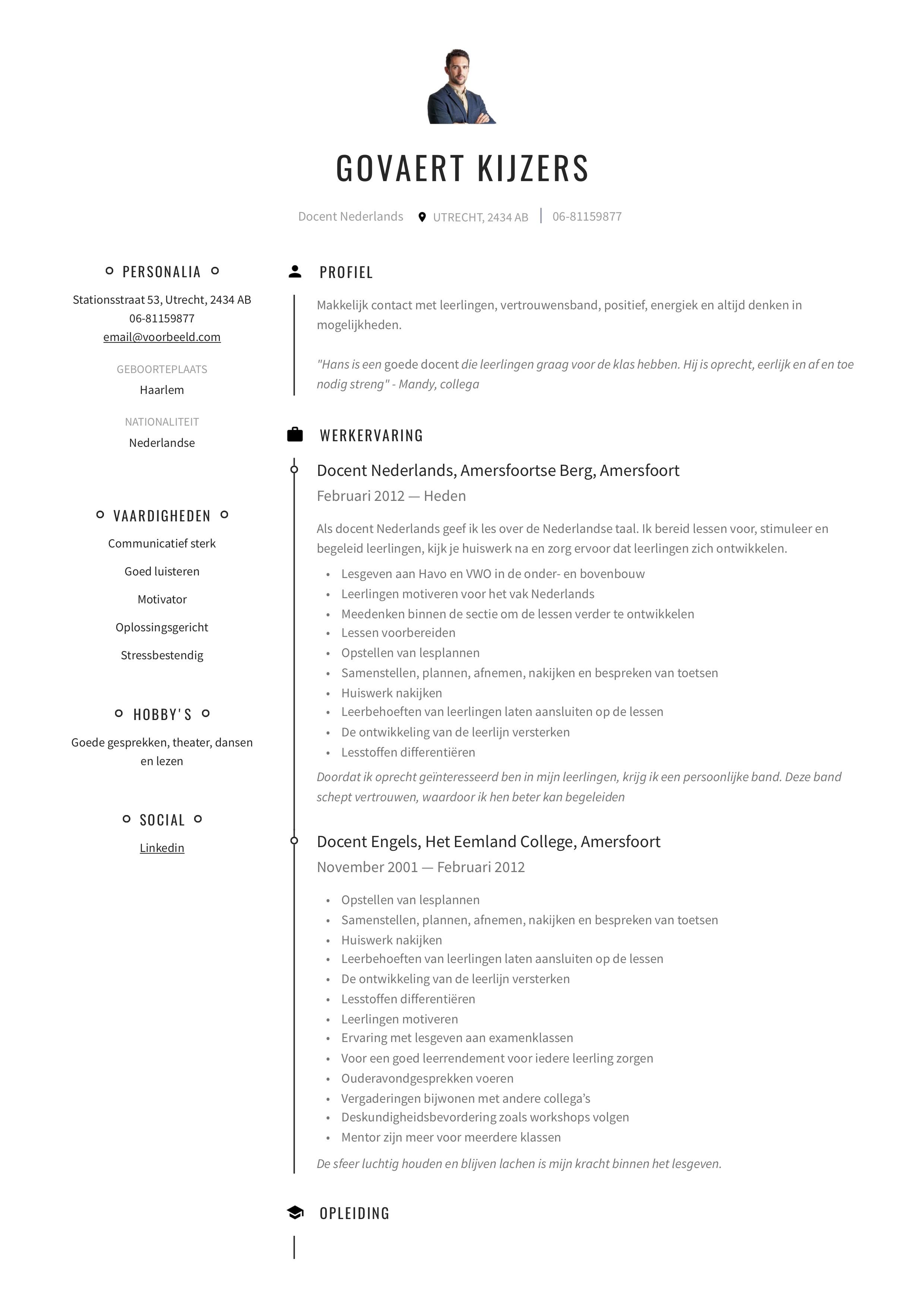 Resume in het nederlands tok essays 2005
