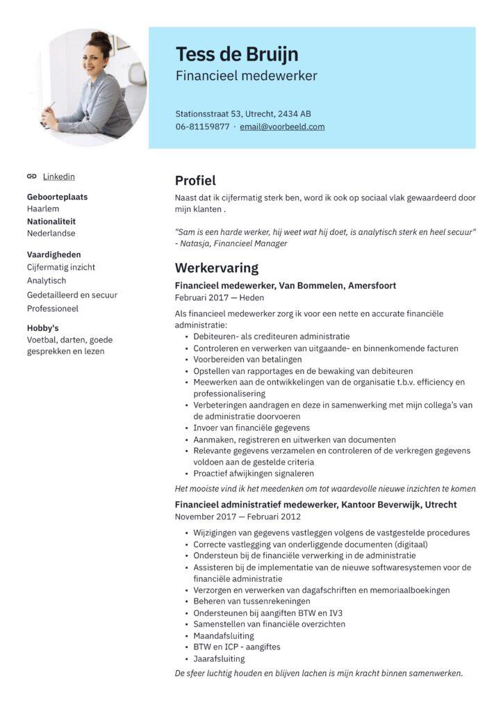 CV voorbeeld modern